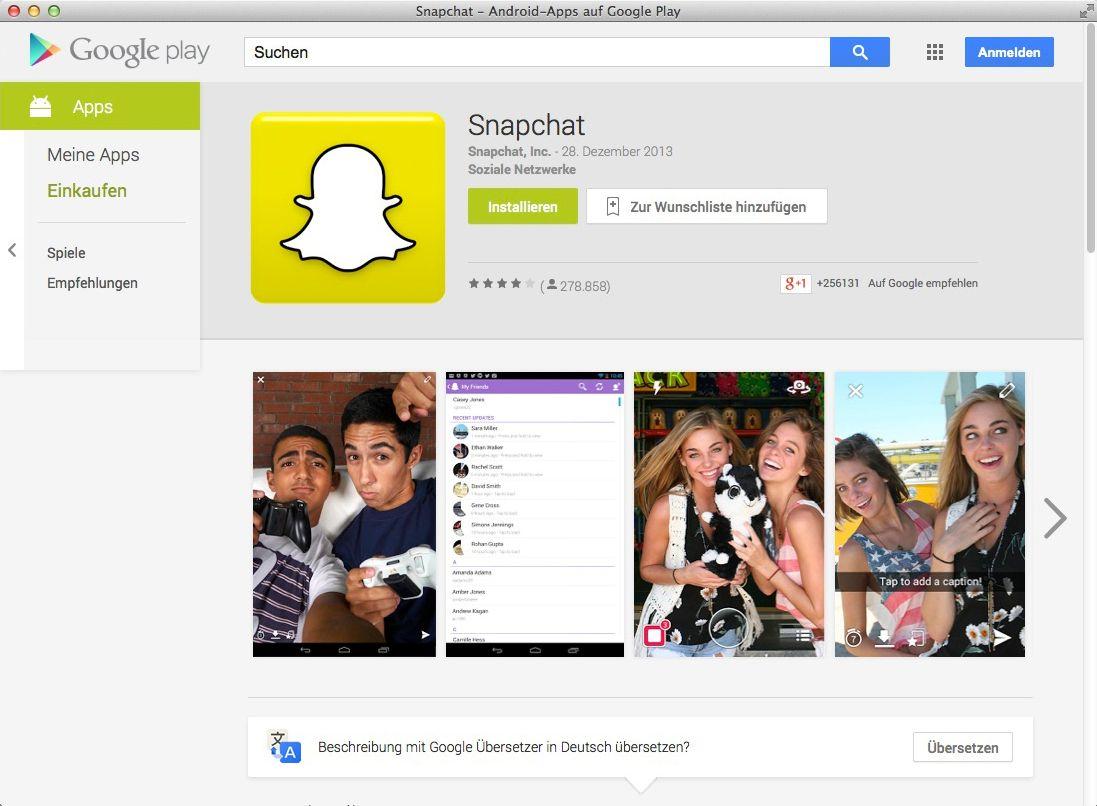 NUR ALS ZITAT Screenshot Snapchat