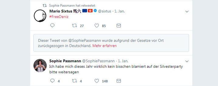Twitter-Timeline von Passmann: In der Mitte fehlt ihr Dinner-for-One-Tweet