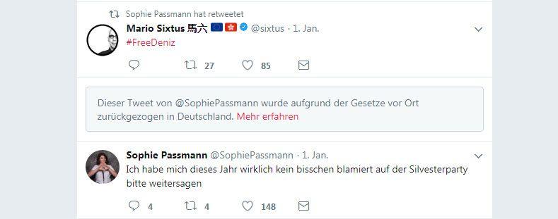 NUR ALS ZITAT Screenshot Sophie Passmann NetzDG