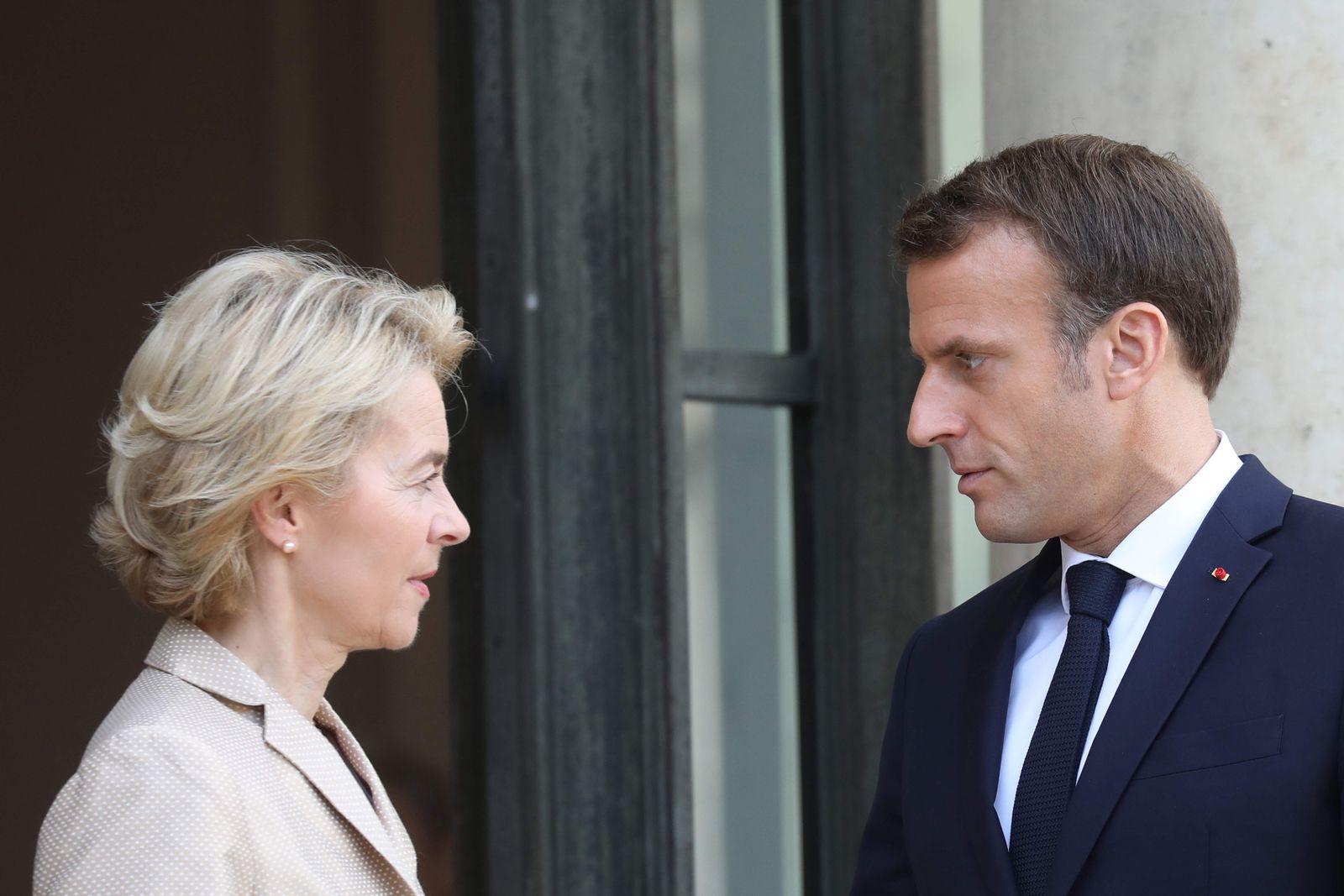 Von der Leyen, Macron