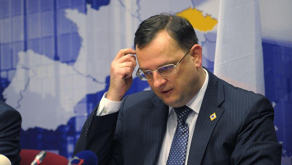 Petr Nečas: Der tschechische Ministerpräsident geht auf Distanz zum Acta-Abkommen