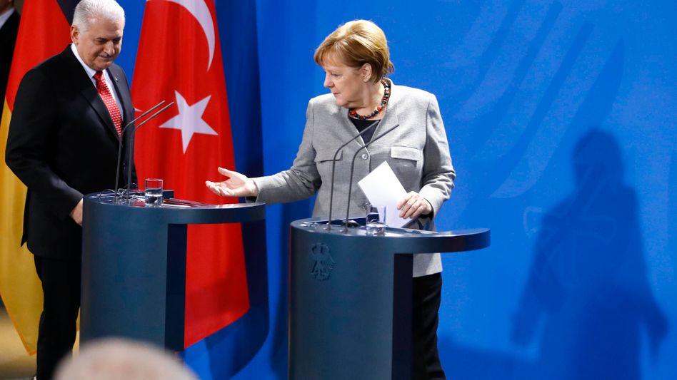 Yildirim und Merkel