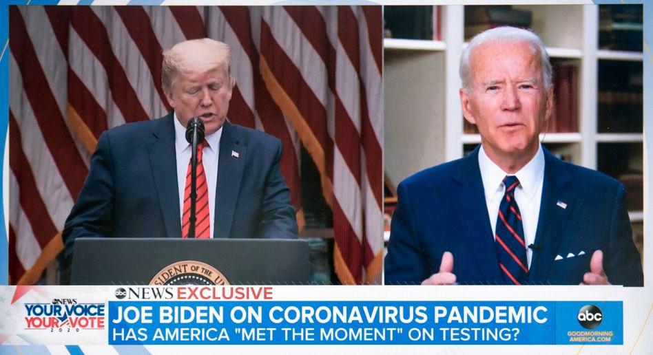 Joe Biden kritisiert während eines TV-Interviews die Coronapolitik von Donald Trump
