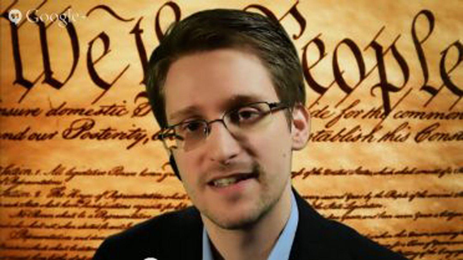 EINMALIGE VERWENDUNG Edward Snowden