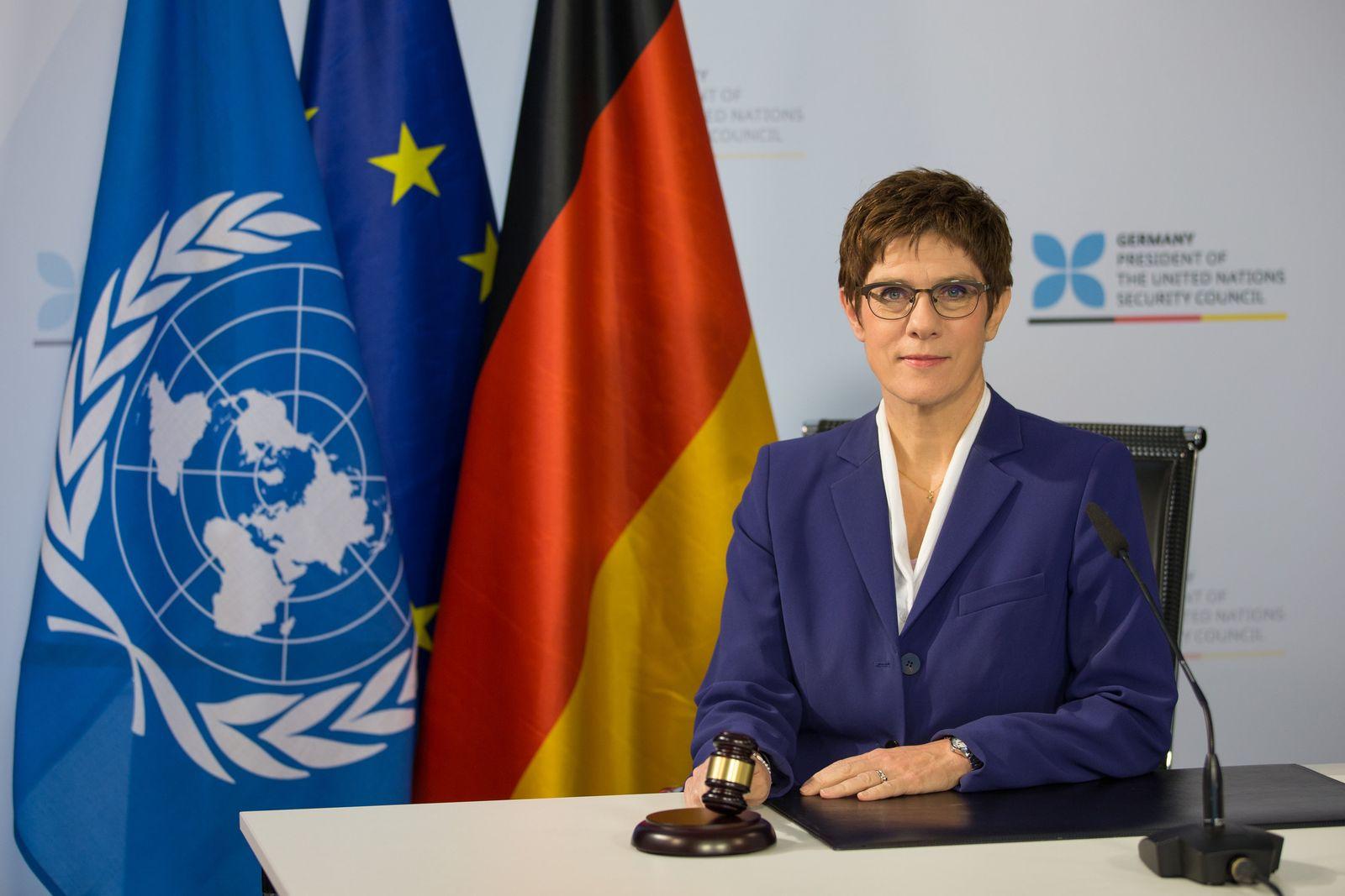 Videokonferenz UN-Sicherheitsrat