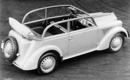 Cabrio-Limousine: Diese Karosserieversion war damals überaus beliebt, Opel verlangte für den Wagen 2500 Reichsmark