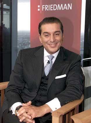 Karriere auf der Kippe: Friedman in der Kulisse seiner Sendung