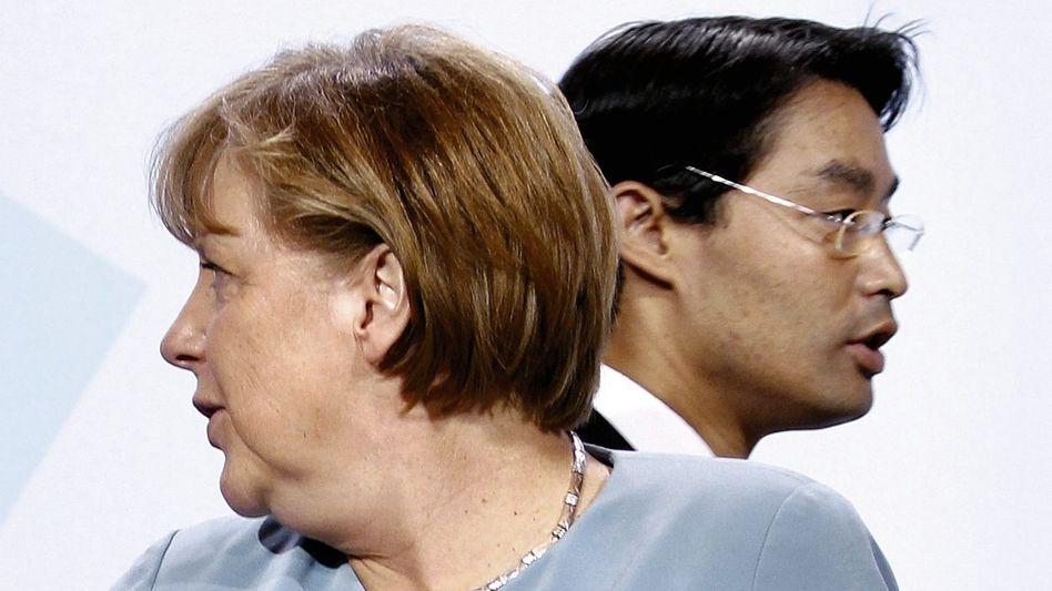 Regierungspartner Merkel, Rösler
