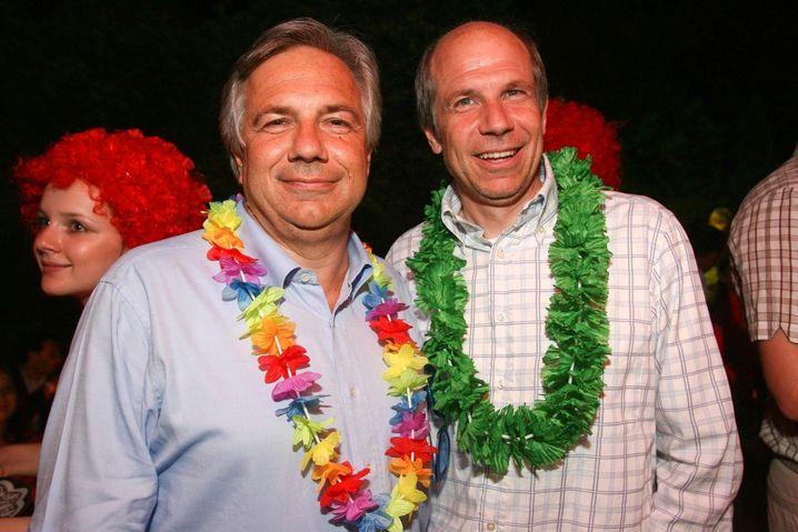Wolfgang und Helmuth Fellner beim Volksgarten-Sommerfest in Wien (2007)