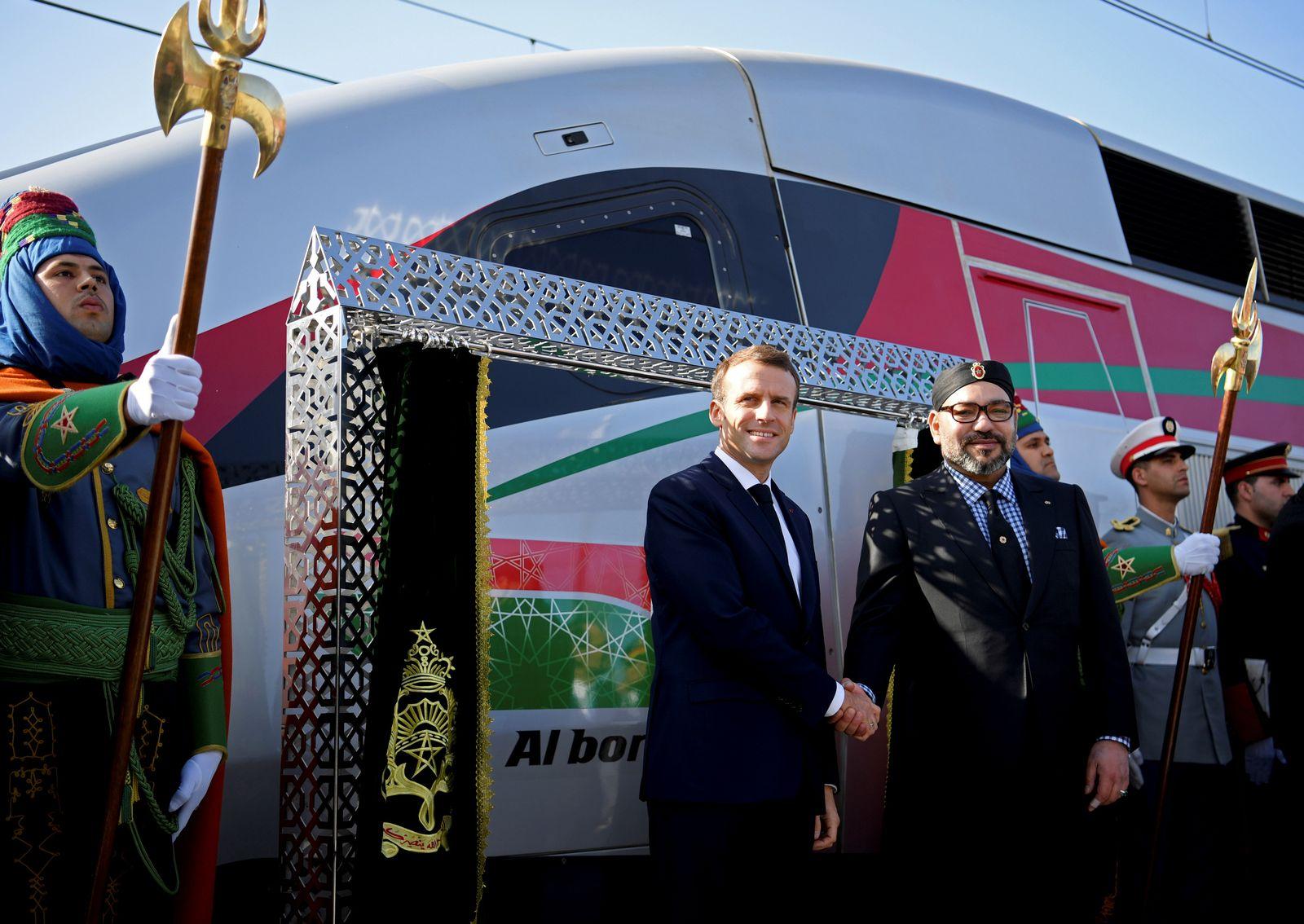 Marokko / Rabat / Macron / König Mohammed VI / Hochgeschwindigkeitszug