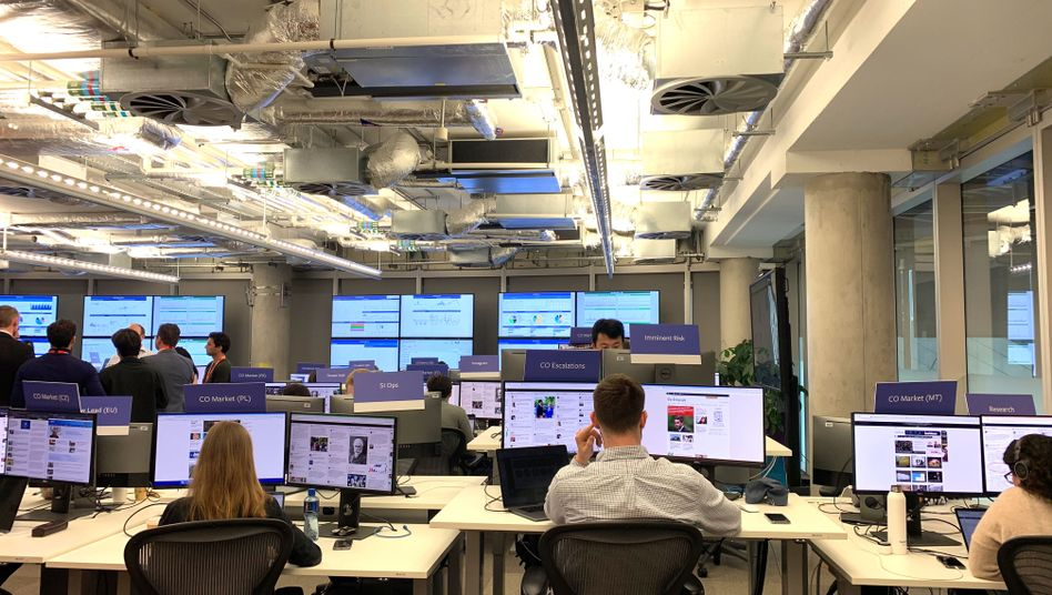Facebooks Elections Integrity Operations Center in Dublin
