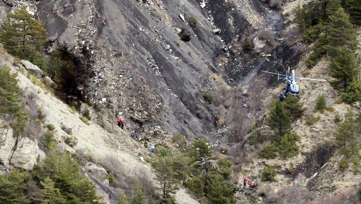 Germanwings-Unglück: Komplizierte Bergung in den französischen Alpen