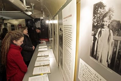 A leading Holocaust survivors' group has slammed Deutsche Bahn's refusal to let a Holocaust exhibition, pictured above, be shown in Berlin's main train station.