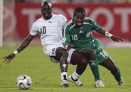 Stephen Appiah gegen John Mikel: Nigeria wies WM-Teilnehmer Ghana auch ohne Jay-Jay in die Schranken