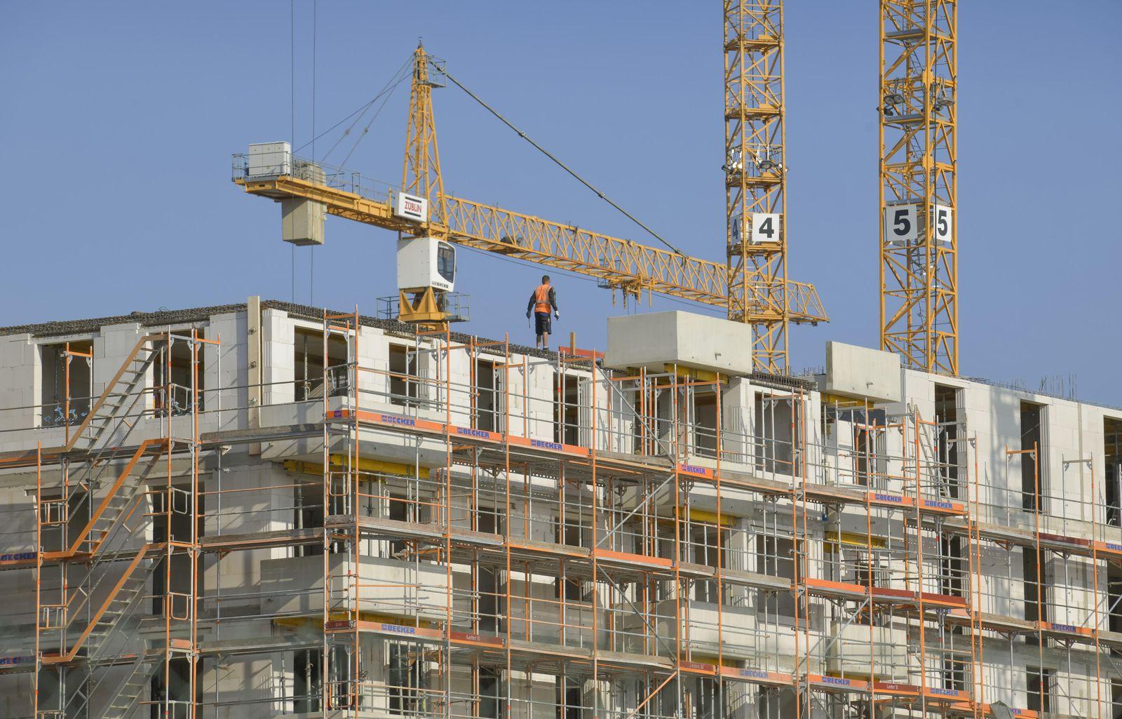 EINMALIGE VERWENDUNG Baustelle Konjunktur