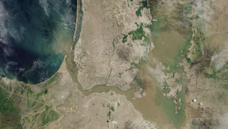 Der See La Niña im Norden Perus