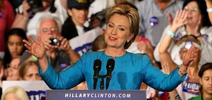 Demokratin Clinton: Obamas Sieg in ihrer Hand