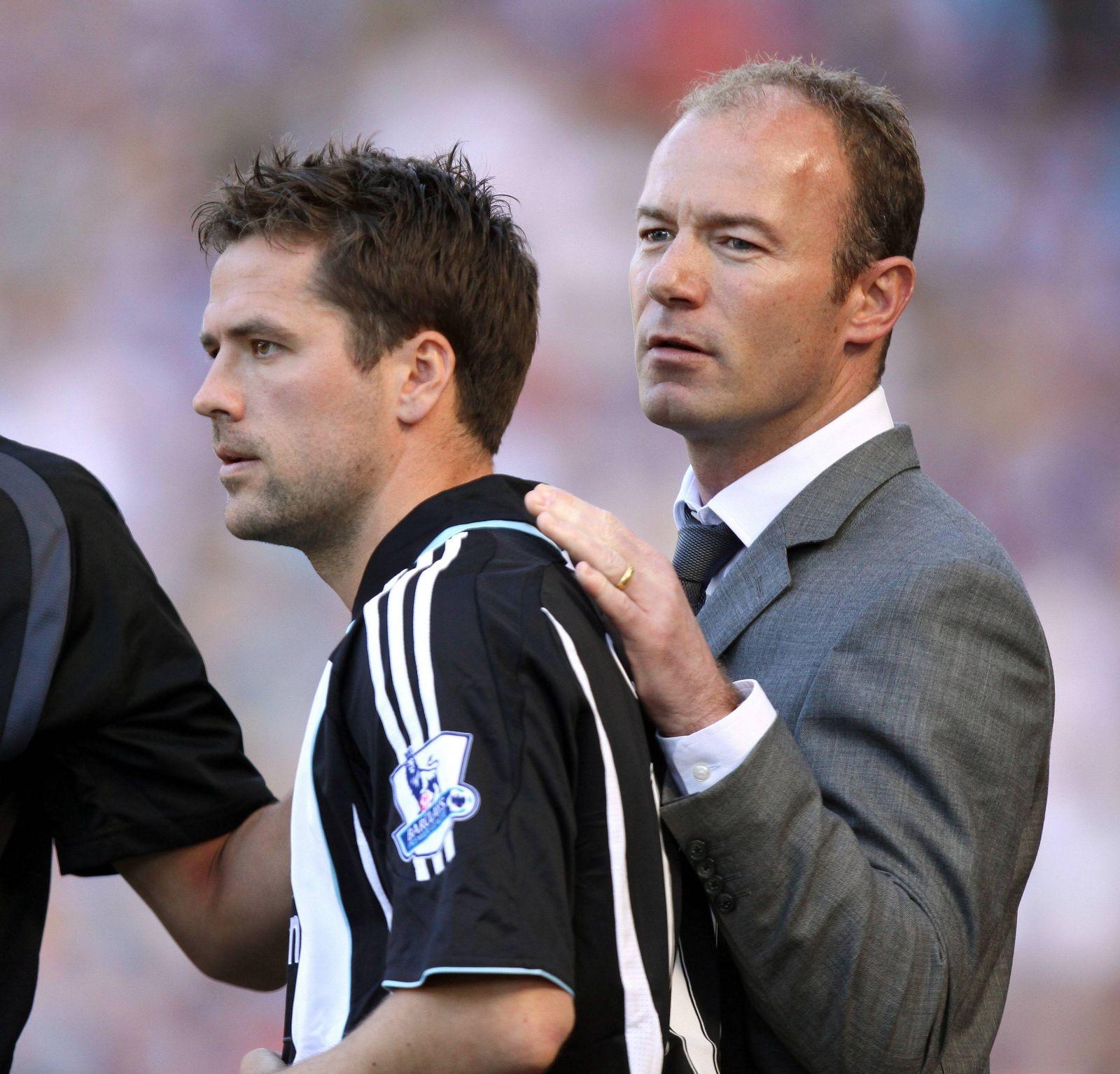EINMALIGE VERWENDUNG Michael Owen/ Alan Shearer/ Newcastle