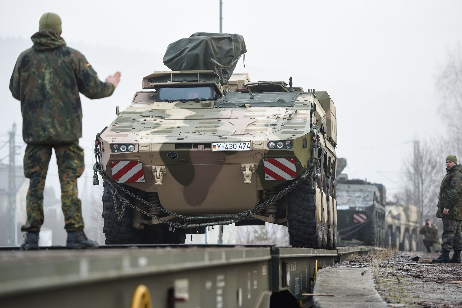 Radpanzer in Immendingen verladen