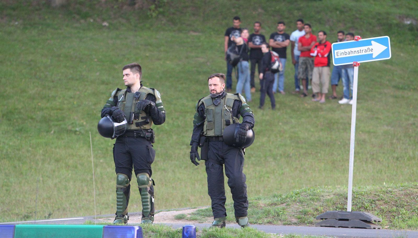 Polizei in Heidenau