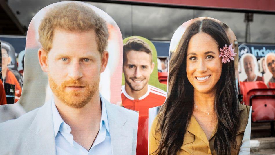 Harry und Meghan als Pappfiguren: Offensive auf Netflix
