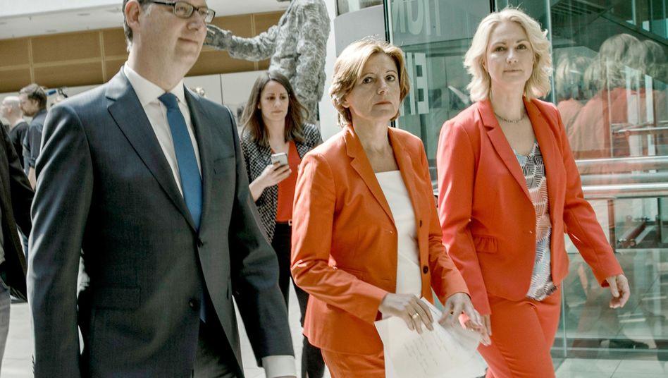 SPD-Übergangsspitze Thorsten Schäfer-Gümbel, Malu Dreyer, Manuela Schwesig