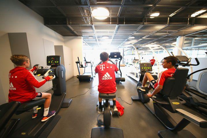 Fitnesszentrum der Bayern-Talentakademie