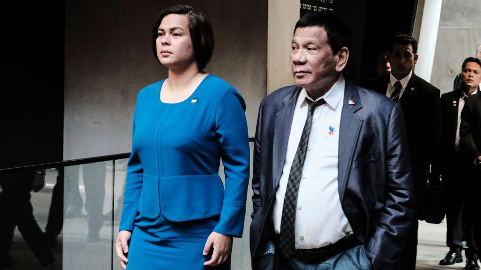 Sara Duterte-Carpio und Rodrigo Duterte: Beerbt die Tochter den brutalen philippinischen Präsidenten im Amt?