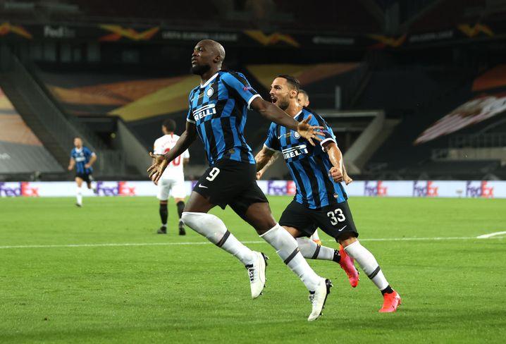 Romelo Lukaku (l.) nach dem frühen 1:0