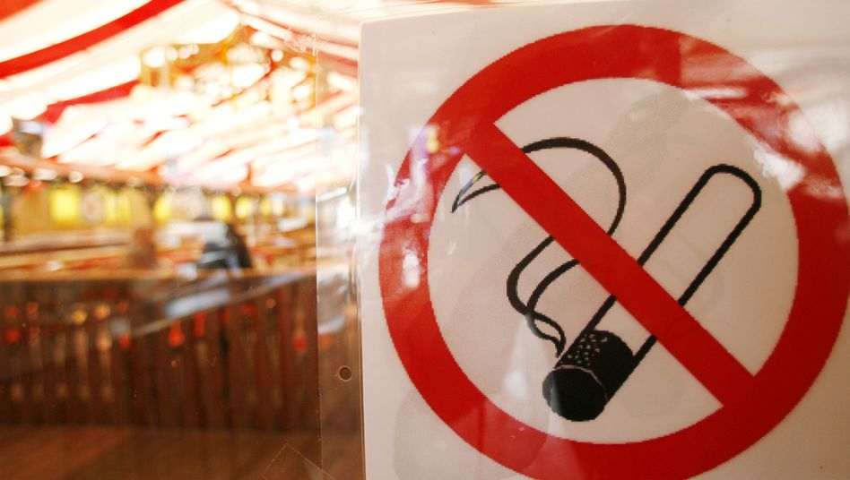Cigarettes will no longer be tolerated at Oktoberfest -- or any other place where you can buy a beer in Bavaria.