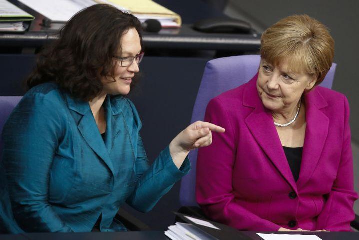 Ministerin Nahles, CDU-Kanzlerin: Ist sie Merkels Lieblings-Sozialdemokratin?