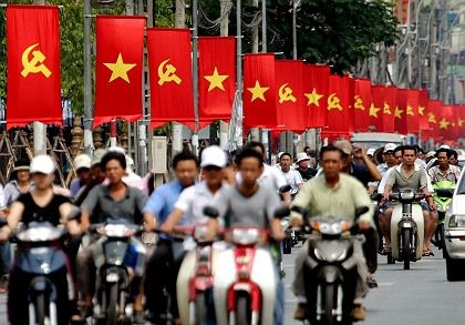 """A busy street in Ho Chi Minh City: """"People want more safety in their daily lives, and they want their standard of living to rise constantly."""""""