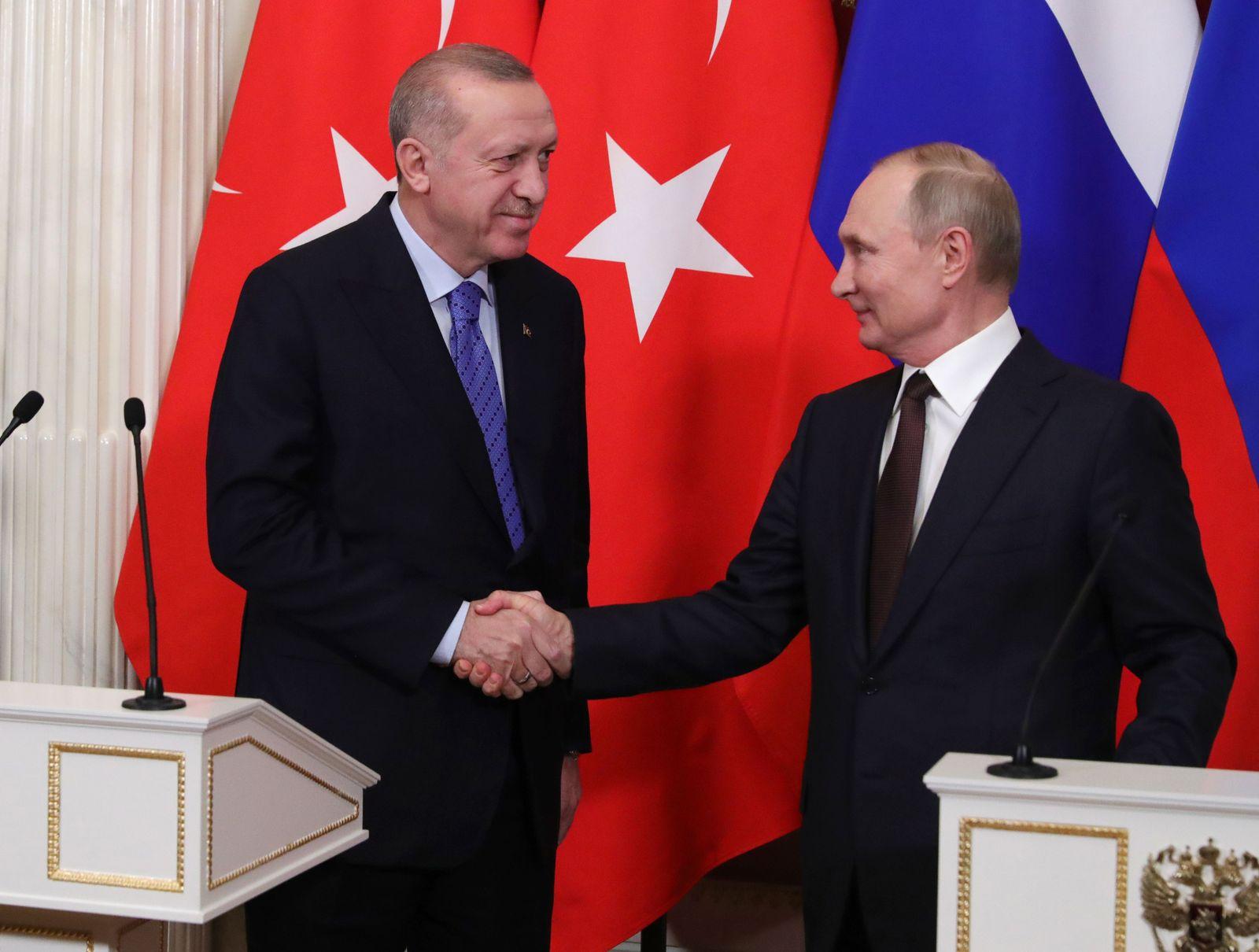 Turkish President Recep Tayyip Erdogan visits Moscow, Russian Federation - 05 Mar 2020