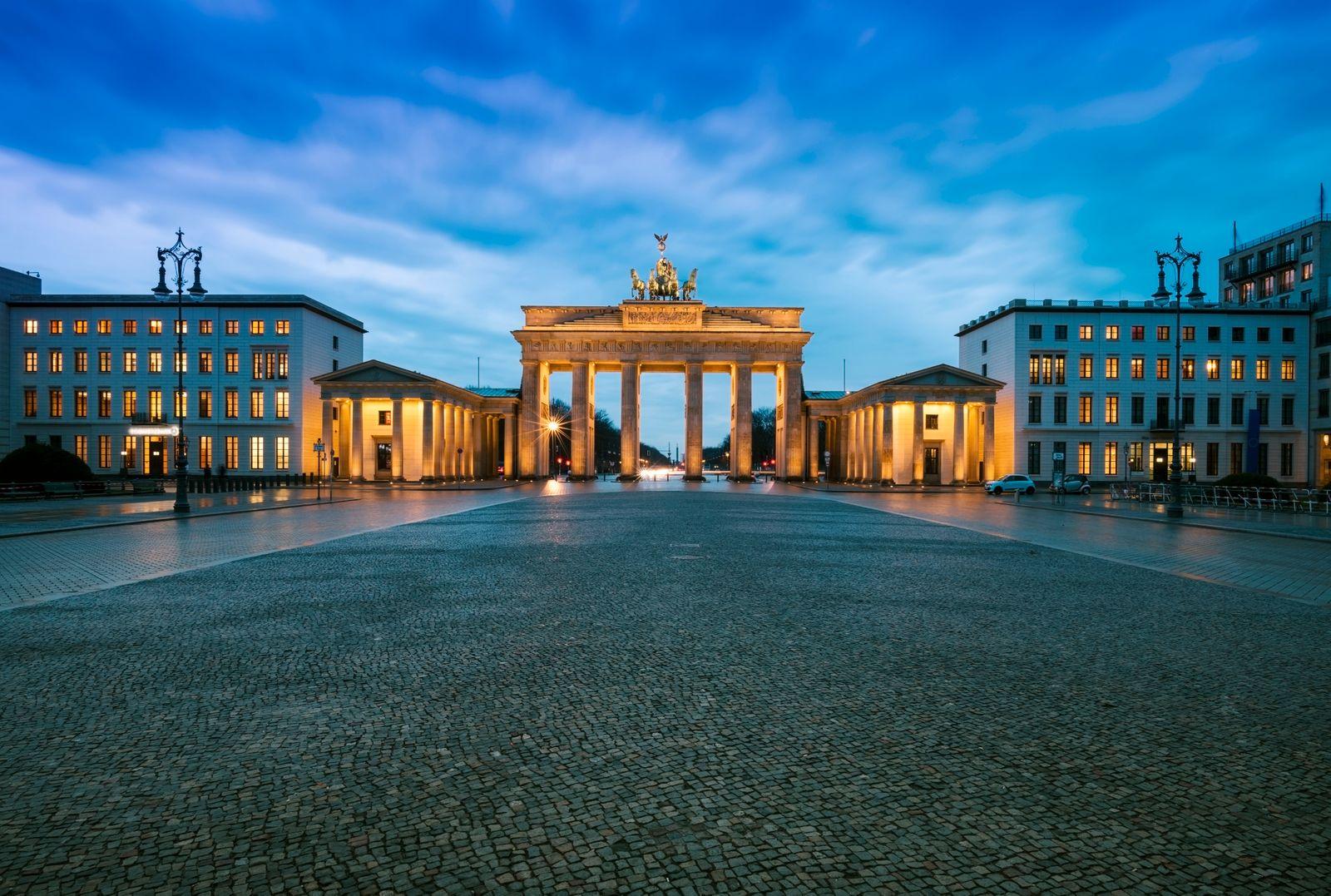 Brandenburger Tor, in Berlin, Germany - Stock image