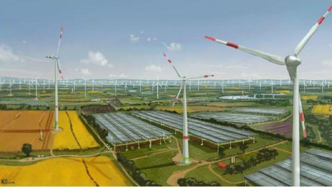 """Bisher nur ein Entwurf der Stadt Kerpen: die """"Energie-Arena"""" Hambach"""