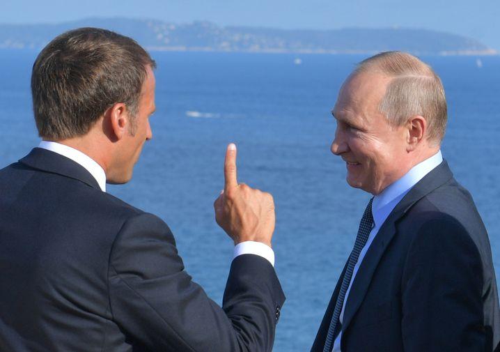 Emmanuel Macron zeigte Wladimir Putin seine Ferienresidenz am Mittelmeer