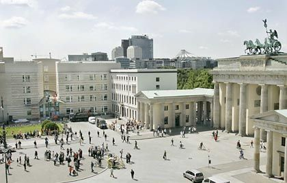 America's newest outpost: The US Embassy in Berlin completes the city's central Pariser Platz.