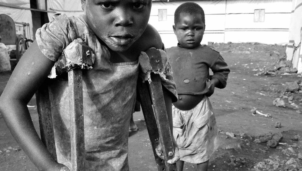 Flüchtlingslager in Goma: Manche können nur kriechen