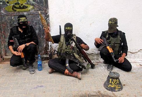Palestinian Islamic Jihad fighters in Gaza