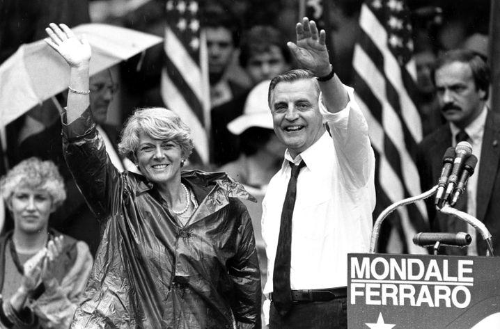 Mondale mit Geraldine Ferraro (1984)