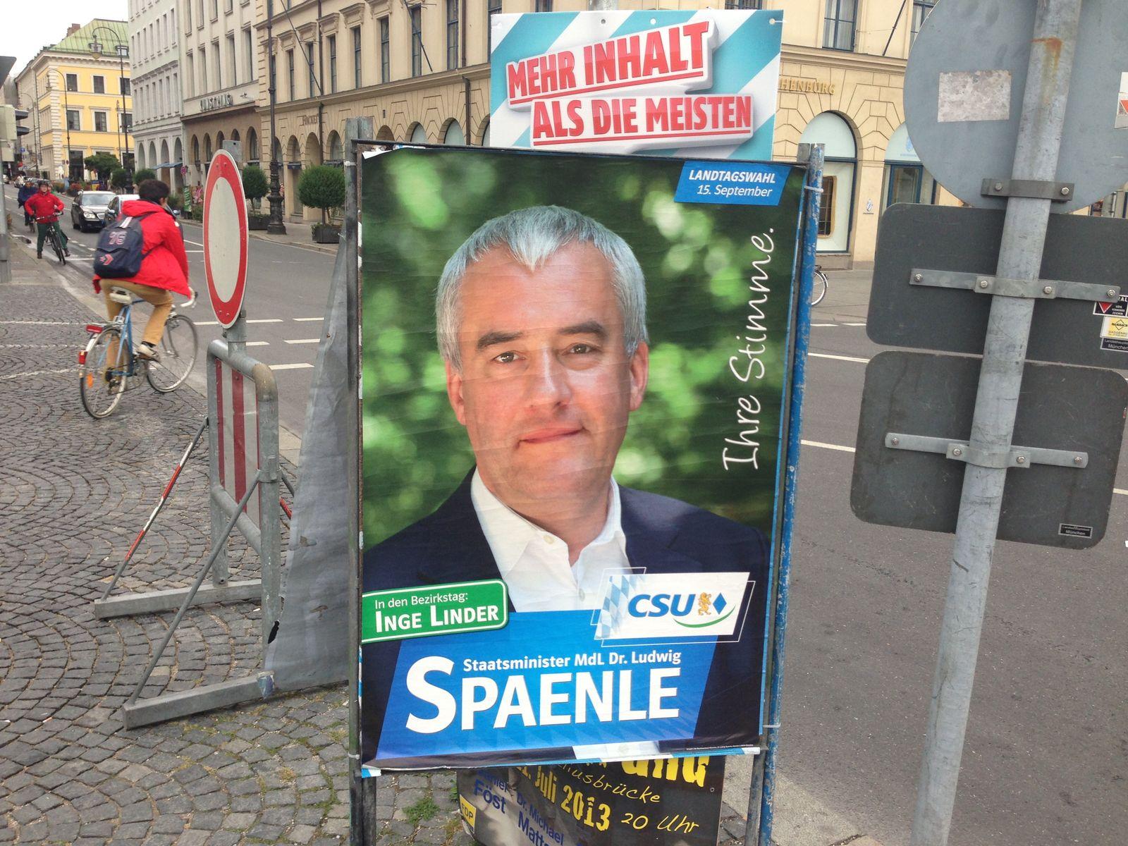 Wahlplakat/ Ludwig Spänle