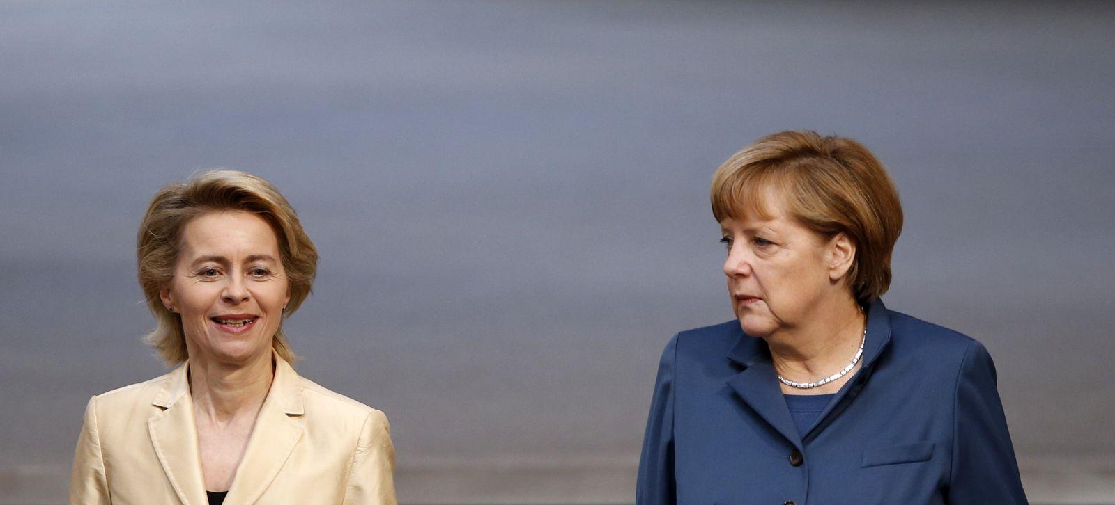 Von der Leyen, Merkel