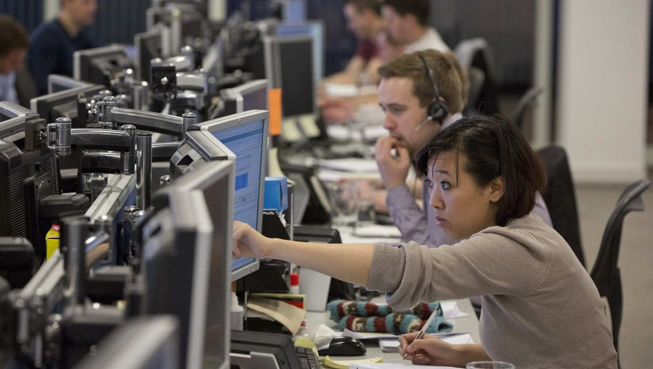 Händler in London: Bangen um Europas Banken