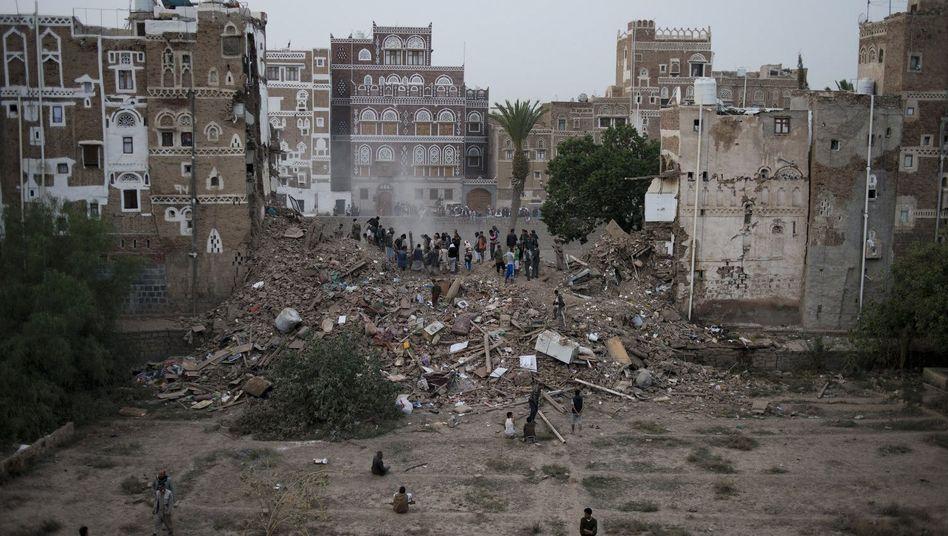 Altstadt von Sanaa am 12. Juni: Unesco-Weltkulturerbe durch Luftangriff zerstört
