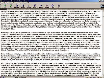 Die Raubkopie: Qualvolle Textwüste, 95 dichtbedruckte Seiten im Ausdruck