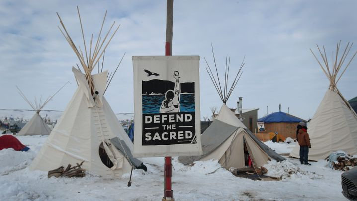 Pipeline-Protest in USA: Der Winter kommt