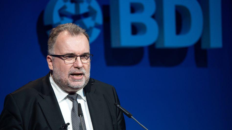 Unzufrieden mit der Politik: BDI-Chef Siegfried Russwurm
