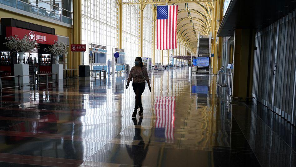 Nahezu verwaister Flughafen in Washington (Aufnahme vom April 2020).