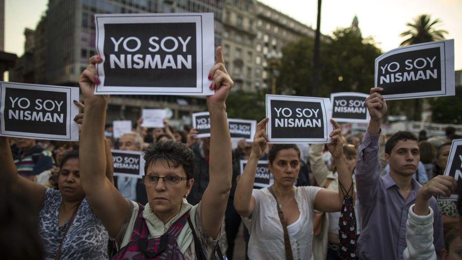 Demonstration für Alberto Nisman: Seine Anhänger sind überzeigt, dass der Ermittler umgebracht wurde