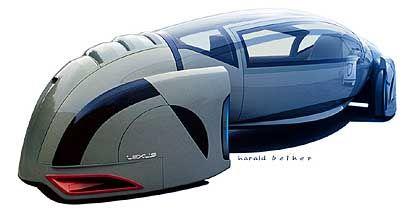 Futuristische Studie: Modell eines von Lexus gesponserten Zukunftsautos